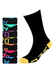 7 Pairs of Freshfeet™ Cotton Rich Sole Weekdays Socks with Silver Technology