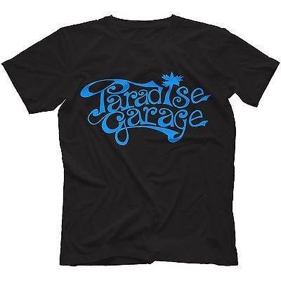 Paradise Garage Sign T-Shirt 100% Cotton Chicago House Music Larry Levan[XXXL,Navy Blue]