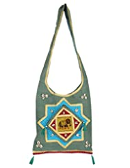 Rajrang Cross-Body Women Handbag Cotton Barmeri Work Bags