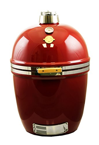 Grill Dome 100305 Infinity Series PRO Kamado, Heavy-duty 304 Stainless Hardware, XL, Red (Big Red Kamado Grill compare prices)