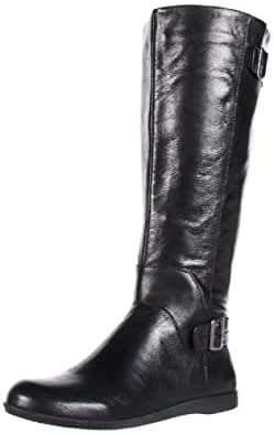 Nine West Women's Nightskies Boot,Black Leather,5 M US