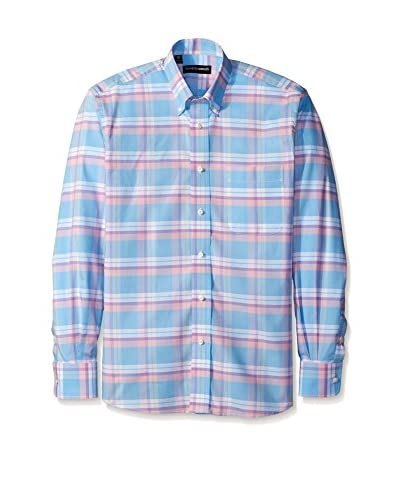 Kenneth Gordon Men's Pastel Check Button Down Sportshirt