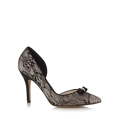 No. 1 <strong>Jenny Packham Womens Designer Black Lace High Court <strong>Shoes
