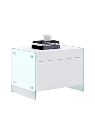 Casabianca Furniture Il Vetro Nightstand, White