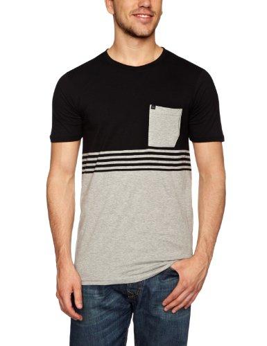 Quiksilver Friday Off Plain Men's T-Shirt Black X-Large