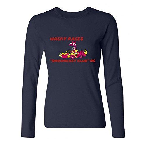 Jonnert Women's Wacky Races Cartoon Long Sleeve Cotton