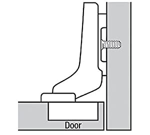 Blum CLIP top BLUMOTION Soft Close Hinges, 110 degree, Self Closing, Frameless, with Mounting Plates (Inset - 2 Pack) (Tamaño: Inset - 2 Pack (1 pair))