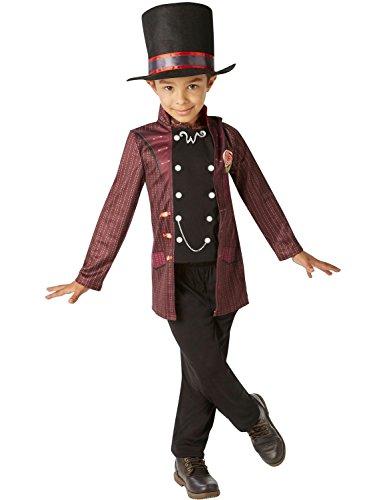 Willy Wonka - Charlie e la fabbrica di cioccolato per bambini Costume - grande - 128 centimetri - Età 7-8