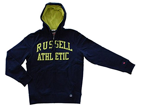 Russell Athletic Felpa con Zip intera ecappuccio A50031190NA-M