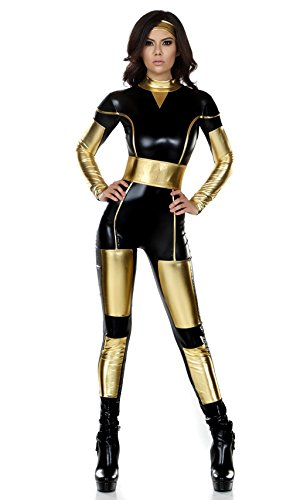 [NonEcho Adult Wonder Woman Costume Catsuit Black] (Adult Black Suit Superman Costumes)