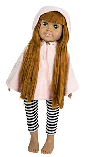 Fiber Craft Springfield Collection Poncho for Doll, Pink