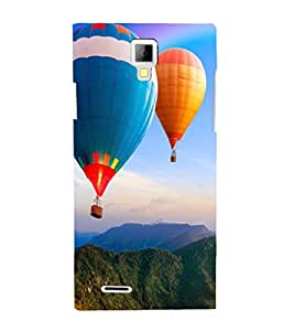 printtech Hot Air Balloon Colored Back Case Cover for Micromax A99 Canvas Xpress