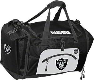Oakland Raiders Duffel Bag - Roadblock Style by Hall of Fame Memorabilia