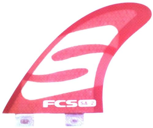 FCS SA-2 Simon Anderson Performance Core Surfboard Tri Fin Set - Red - Large