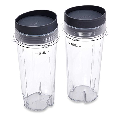 Ninja Single Serve Cup Set, 16-Ounce for BL770 BL780 BL660 All Pro 4 Tab Blenders (Ninja One Cup Blender compare prices)