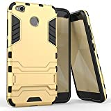 Gulwan Military Grade Armor Defender Cover For Xiaomi Redmi 4X Back Cover In Gold Colour