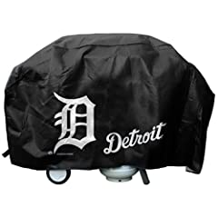Buy Detroit Tigers Official MLB Deluxe Grill Cover by Rico Industries 387006 by Hall of Fame Memorabilia
