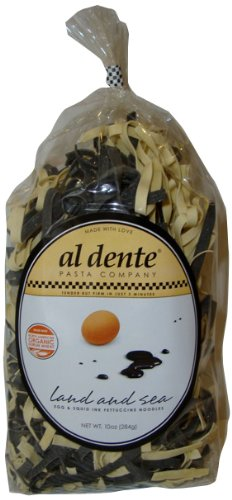 Al Dente Land and Sea, Squid Ink and Egg Fettuccine, 10-Ounce (Pack of 6)