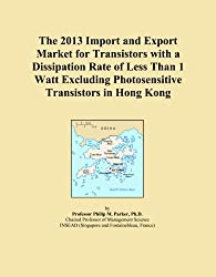 The 2013 Import and Export Market for Transistors with a Dissipation Rate of Less Than 1 Watt Excluding Photosensitive Transistors in Hong Kong