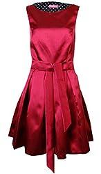 Isaac Mizrahi New York Women's Belted Pleated Dress