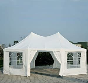 Outsunny 22 X 16 Large Octagon 8 Wall Party Canopy