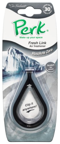 Perk Fresh Link Home / Auto Long Lasting Car Air Freshener Clip, Absolute Zero Scent (Perk Air Freshener Link compare prices)