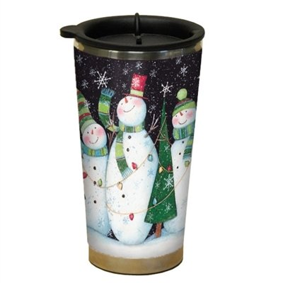 Lang Three Snowmen Traveler Mug