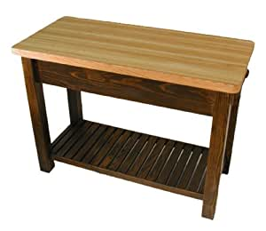 Amazon.com: Caney Creek Prep Table with Butcher Block Top: Kitchen & Dining