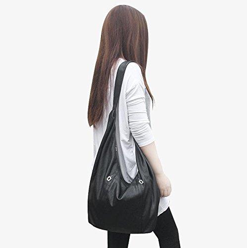 ZY Borsa. Crossbody di donne. Pacchetto donna minimalista sacchetto. Borsa a tracolla Giappone e Corea del sud. Borse in pelle morbida. Borse inverno selvaggio , black