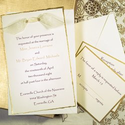 Gold Deckled Invitation Kit Gold Deckled Invitation Kit