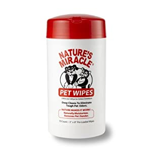 Nature's Miracle Pet Bath Wipes, 70-Count