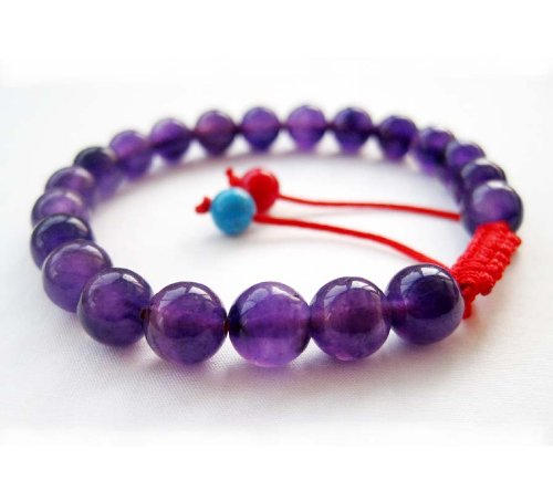 8mm Purple Jade Stone Beads Tibetan Buddhist