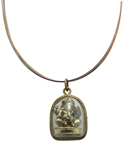 Cased Brass Ganesh Pendant Necklace