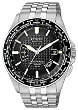 World Perpetual AT Men's Bracelet Black Dial