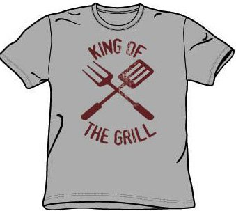 KING OF THE GRILL Funny Barbeque BBQ T-shirt Tee Shirt