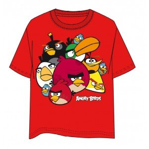 Angry Birds Red Short Sleeve Shirt Größe 12 Jahre