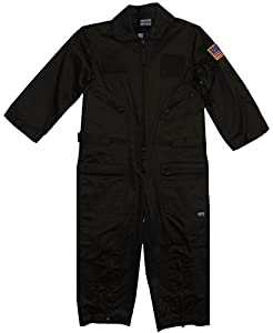 Kids Military Replica OD Green Flight Suit USAF Patches Large 7-8