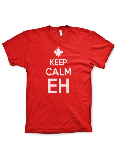 Keep Calm eh shirt Chive on tshirt canada shirt funny tshirt Canadian NHL hockey, Large (Shirt Canada compare prices)