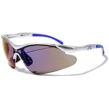 X-Loop Lunettes de Soleil - Sport - Cyclisme - Ski / Mod. 3529 Gris Bleu / Taille Unique Adulte / Protection 100% UV400