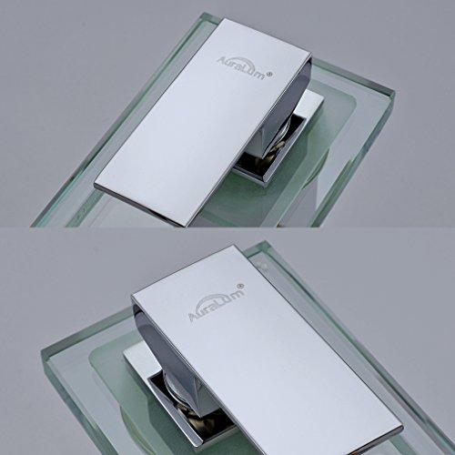 Auralum mitigeur lavabo robinetterie led rvb cascade pour vasque de salle de bain en laiton - Robinetterie laiton salle de bain ...
