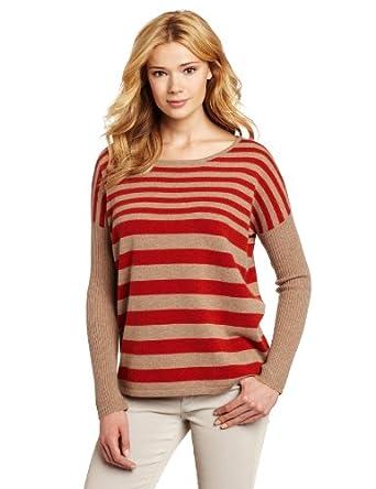 (羊绒)美国大牌Design History女士条纹100%纯羊绒衫 两色 $63.93
