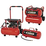 All Power America APC4007 3.5 Horsepower 8 Gallon 115 PSI Mobile Twin Tank Air Compressor With Removable Tank