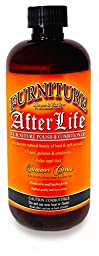Furniture Afterlife, Professional Wood Polish & Conditioner, with benefits of both Orange & Lemon Oils, Silicone & Wax Free, 16 Ounce Bottle