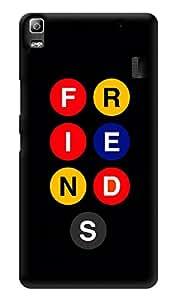 "Humor Gang Friends Show Buttons Printed Designer Mobile Back Cover For ""Lenovo A7000 - Lenovo A7000 Plus - Lenovo A7000 Turbo - Lenovo k3 note"" (3D, Glossy, Premium Quality Snap On Case)"