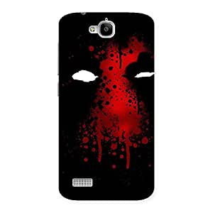 Enticing Horror Red Back Case Cover for Honor Holly