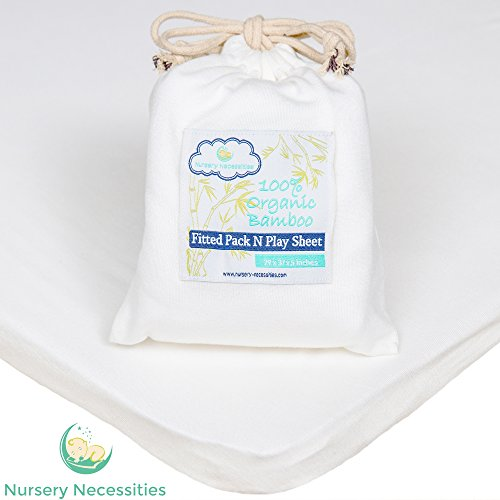 Discover Bargain 100% ORGANIC Bamboo Pack N Play Sheet - Silky Soft, Antibacterial, Hypoallergenic -...