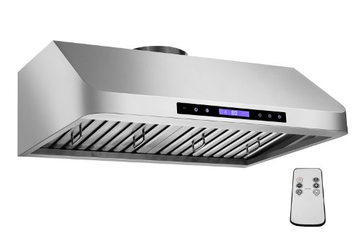 "Firebird New 36"" European Style Under Cabinet Stainless Steel Range Hood Vent W/Touch Button Control And Remote Fbgv-10R-36"