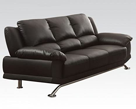 Maigan Leather Sofa in Black by Acme Furniture
