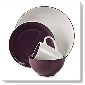 16 Piece Milano Purple Dinnerware Set