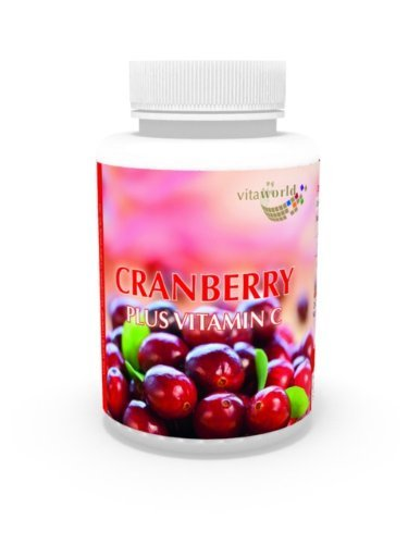 Cranberry 400Mg + Vitamin C 180 Capsules Vita World German Pharmacy Production